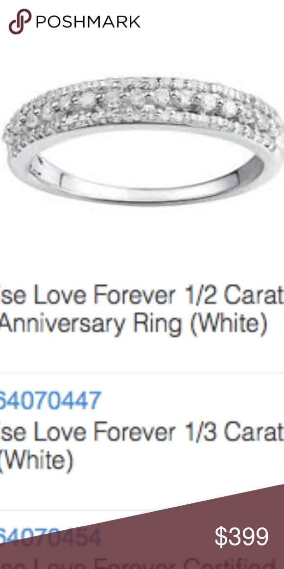 Authentic 1 3 Carat Diamond Sterling Silver Band Bought This For 1000 As A Wedding Band Missing On Amazing Wedding Rings Big Wedding Rings Huge Diamond Rings