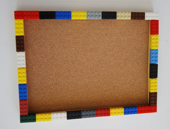 This LEGO® corkboard is perfect to show off the personality of anyone who loves Lego and having fun! The Lego® brick colors will be random and may