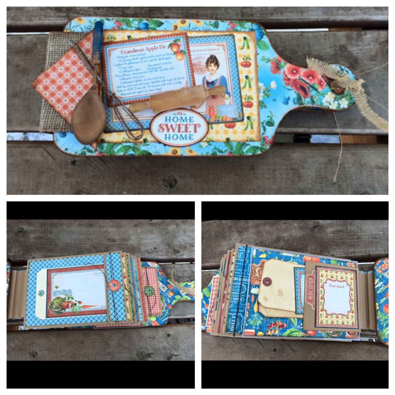 Cutting Board Recipe Book created by crafter Yvette Claeys.