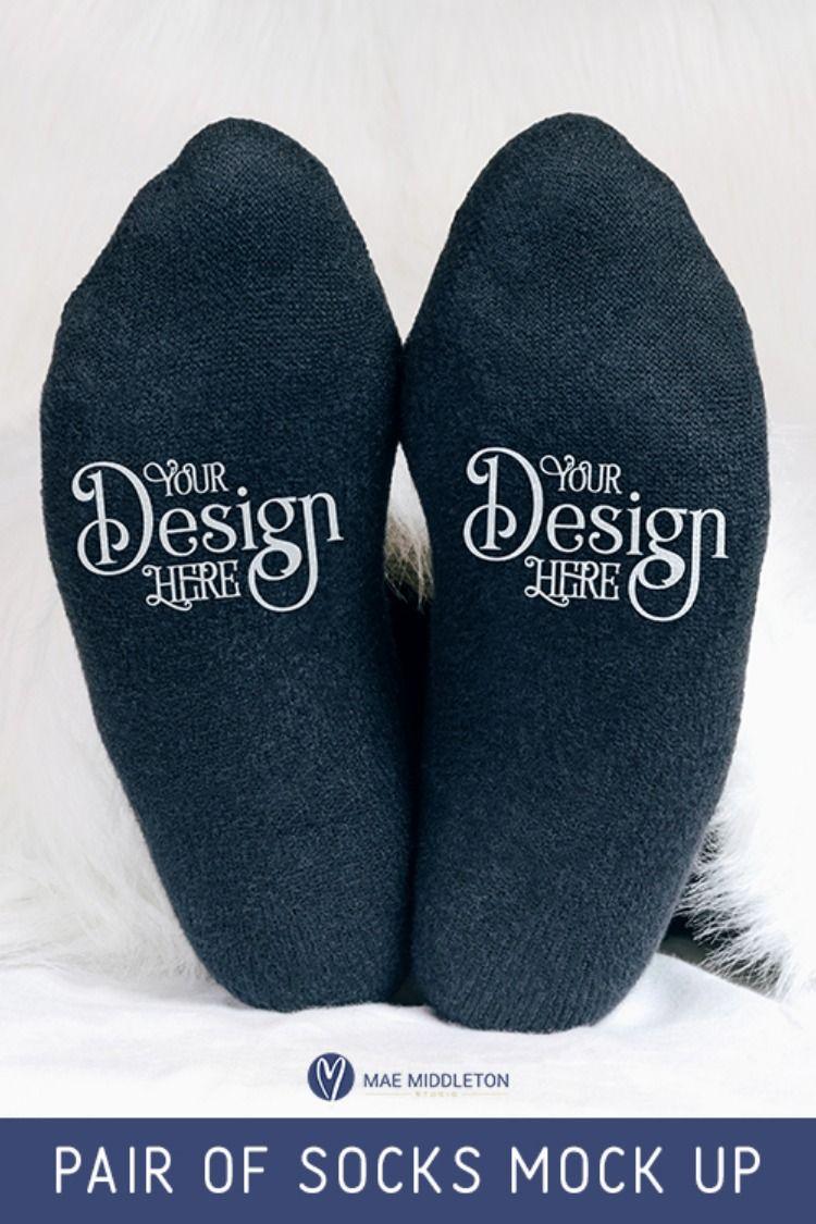 Download Pair Of Socks Mock Up Fashion Photo Socks Style