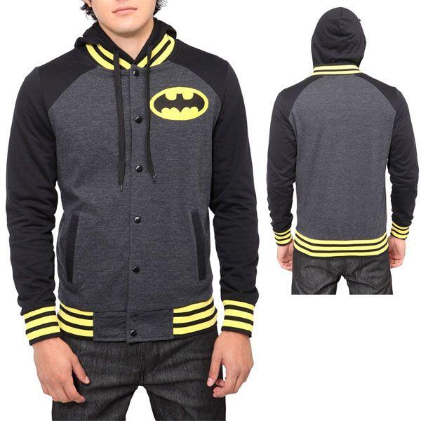 Mens Bruce Wayne Pullover Hoodie DC