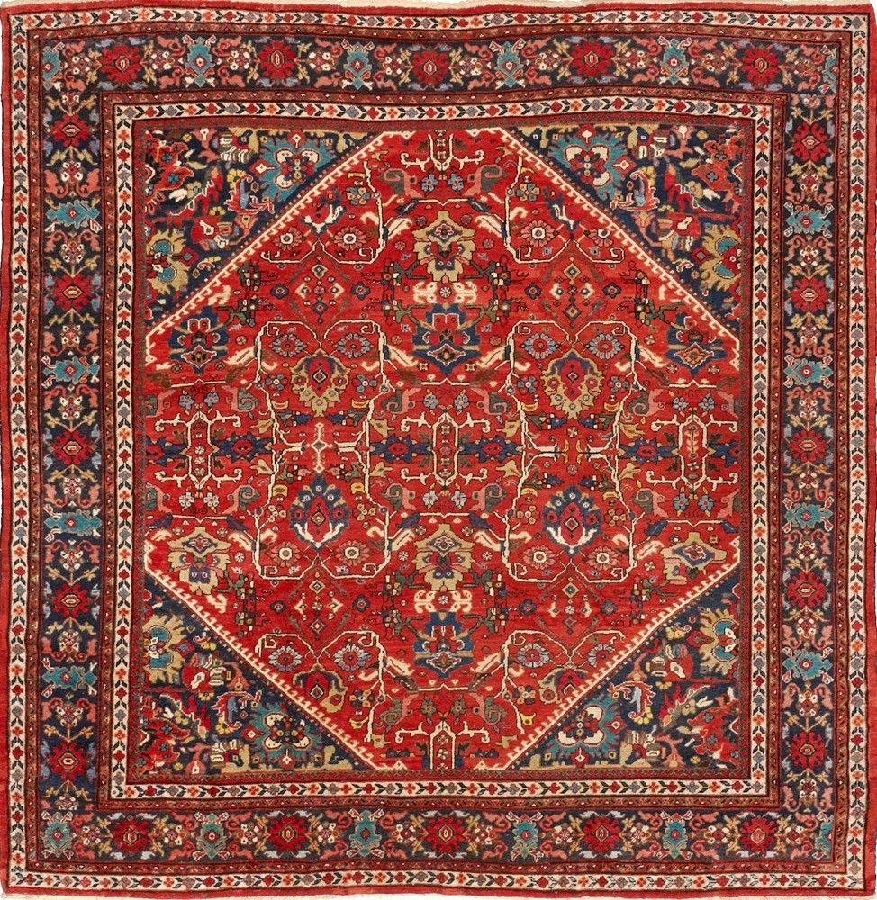 Persian Mahal square rug