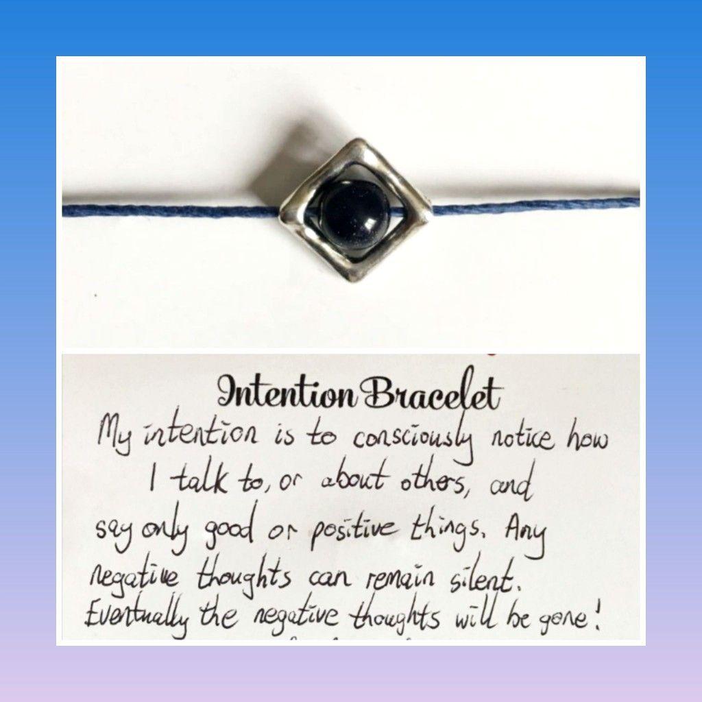 Intention bracelet anxiety bracelet crystal bracelet fidget