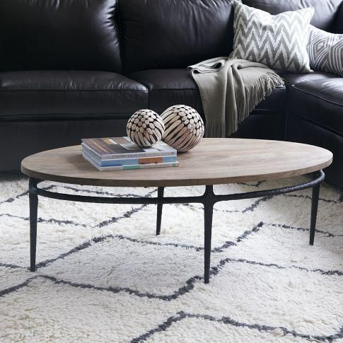 Tables   Cast Base Coffee Table | West Elm   Cast Iron Based Coffee Table,