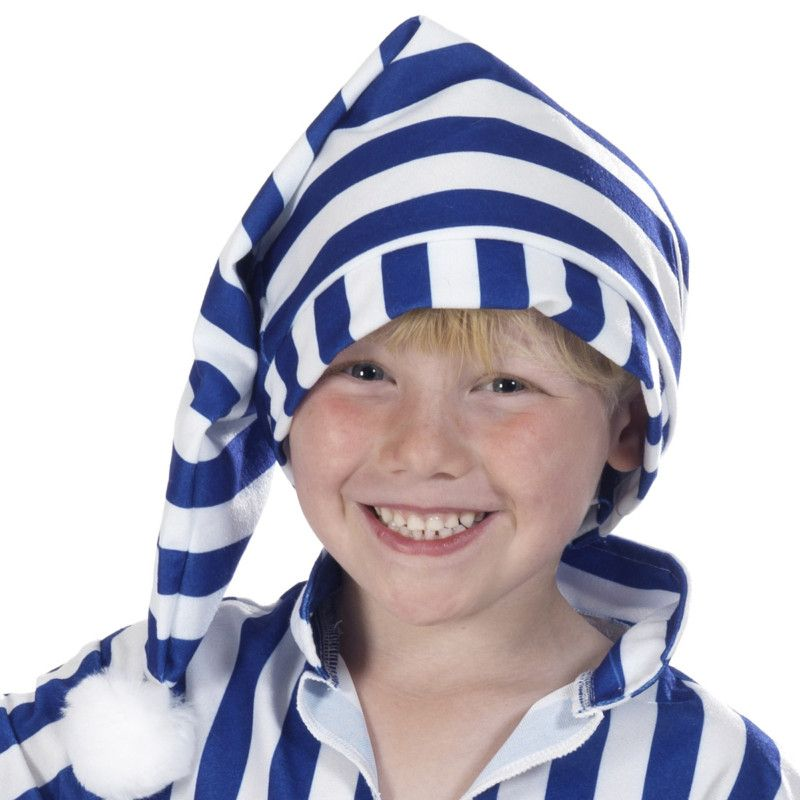 BLUE NIGHTCAP Adult Unisex NIGHTCAP Accessory for Wee Willie Winky Fancy Dress Unisex Mens