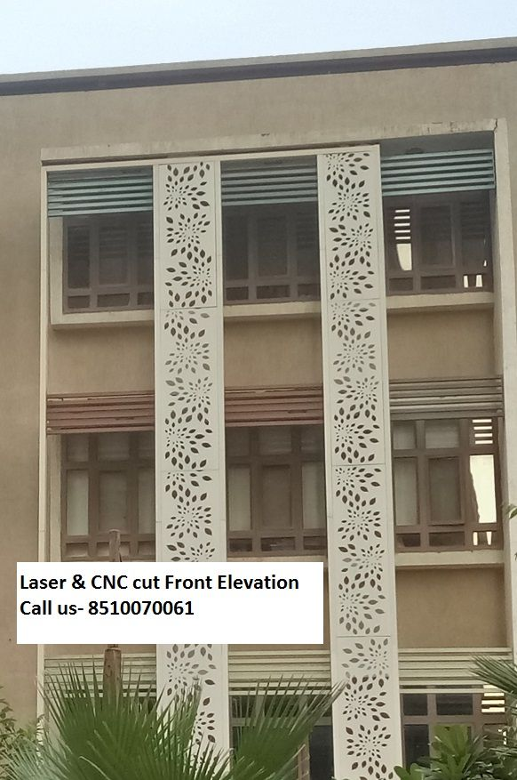 Stone Jali Elevation : Decorative screen mdf metal steel stainless acrylic