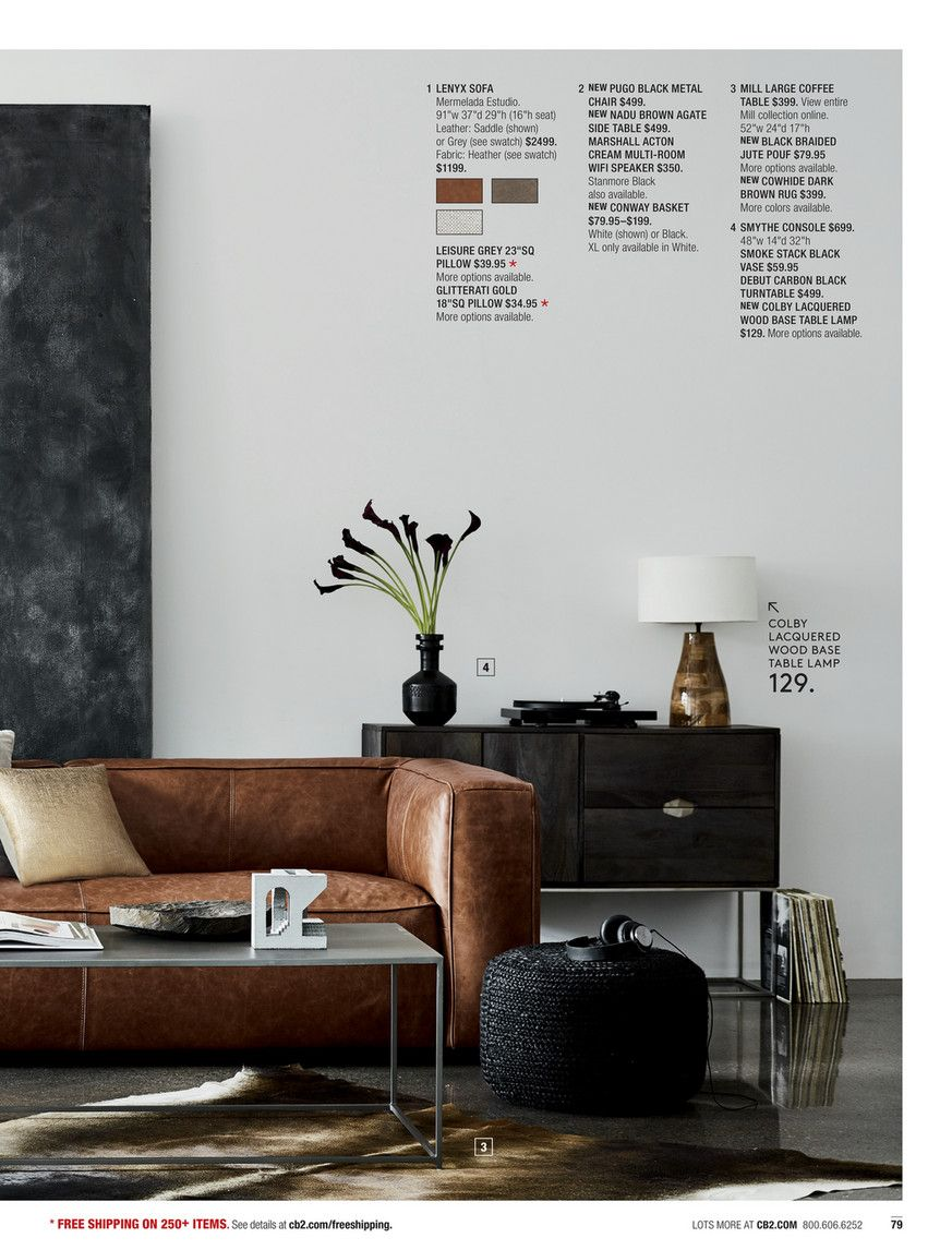 Lenyx Cognac Leather Sofa