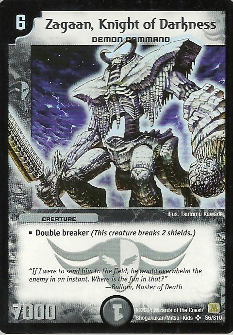 Knight Of Darkness Zagaan Duel Masters Magic Cards Fantasy