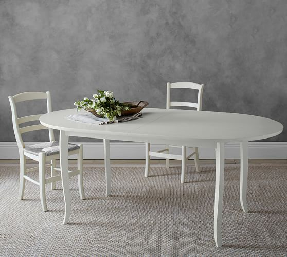 Chloe Extending Oval Dining Table  Pottery Barn  Home Decorating Gorgeous Pottery Barn Dining Room Tables 2018