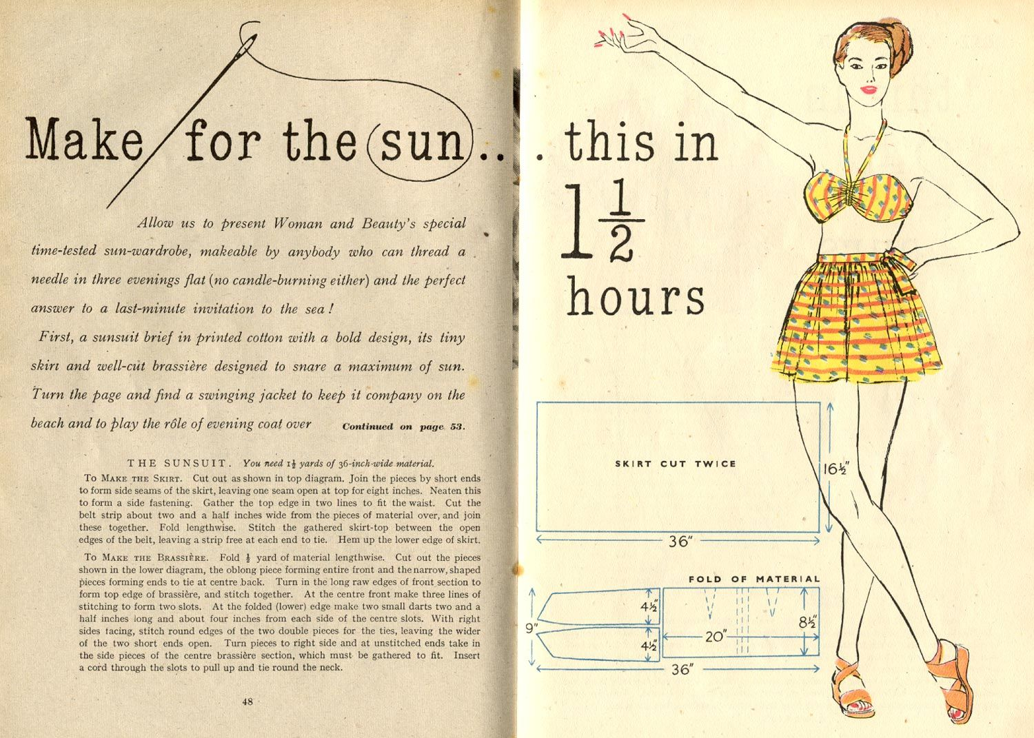 diy sunsuit, from Woman & Beauty July 1948