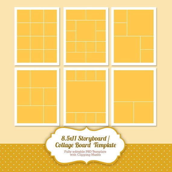 Instant Download Storyboard Photoshop Templates by PopuriDesign ...