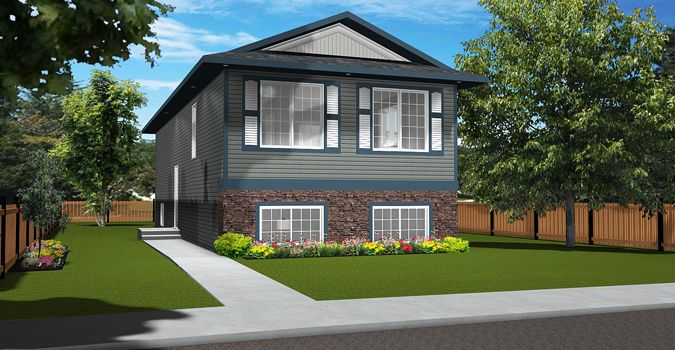 House Plan 2010496 Side Entrance Bi Level By Edesignsplans Ca Great For That Narrow Lot The Side Entrance Leads To Either L House Styles House Plans House