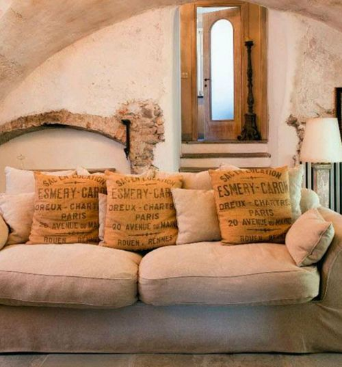 Cuscini 5riciclo creativo juta decorazioni fai da te casa for App arredamento interni