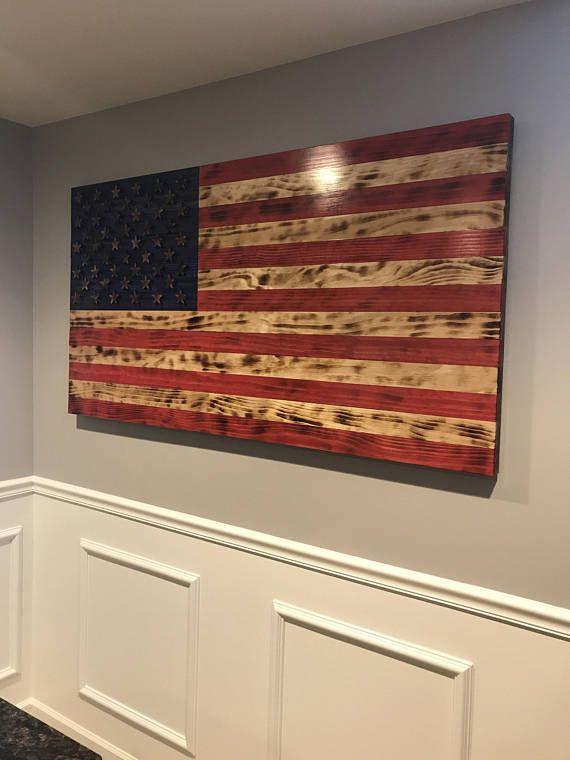 3D Charred American United States Flag