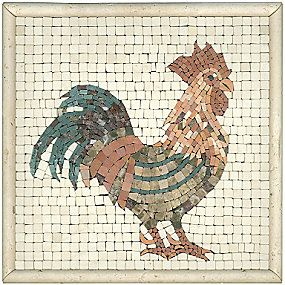 Decorative Tile Accent Pieces Travertine Rooster Inserto 12 X 12 In#thetileshop  Tile