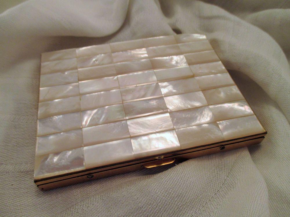 Vintage Cigarette Case or Business Card Holder Mother of Pearl ...