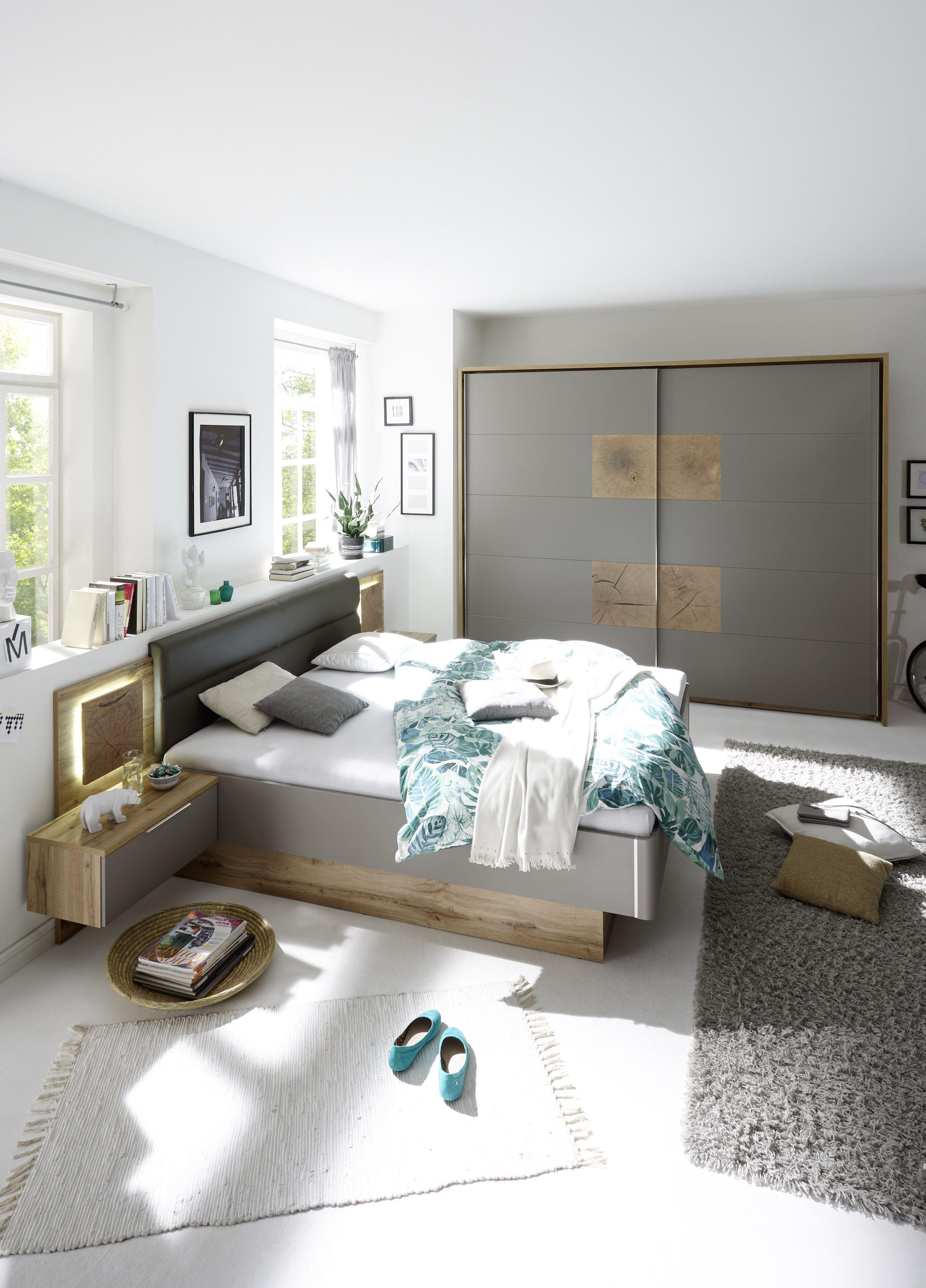 Schlafzimmer Mit Bett 180 X 200 Cm Wildeiche Basaltgrau Mit Abs Hirnholz Woody 62 00143 Mod Komplettes Schlafzimmer Schlafzimmer Einrichten Luxusschlafzimmer