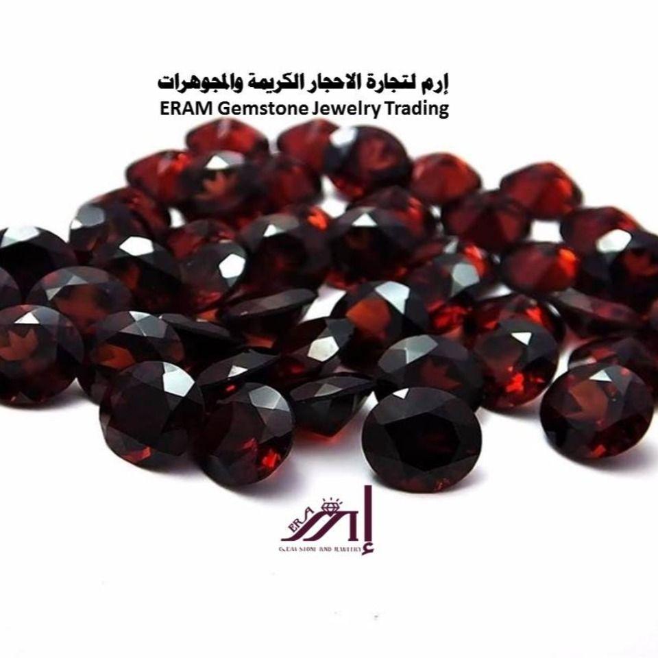 من الجارنيت صغنا لك خواتم ذهب ابيض فاخرمن الجارنيت الاحمر مميز طبيعي 100 Garnet Gemstones Gemstone Jewelry Jewelry