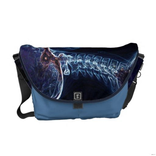 Blue C-spine Messenger Bag (Medium)