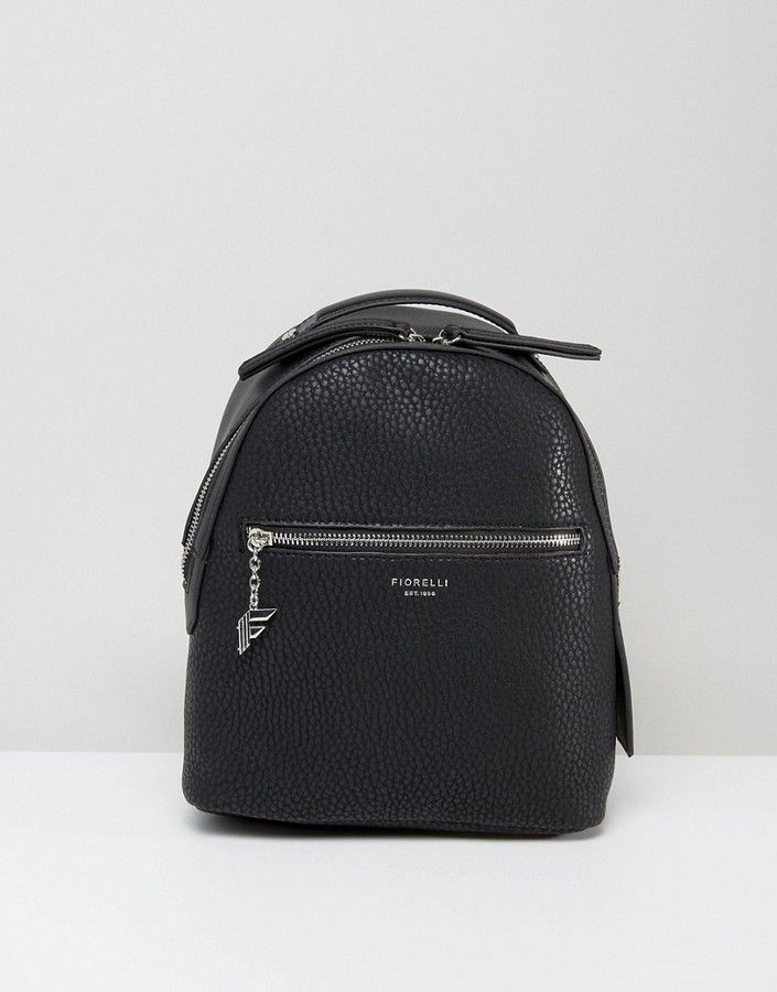 94 - Fiorelli Mini Anouk Black Tumbled Backpack - Backpack by Fiorelli