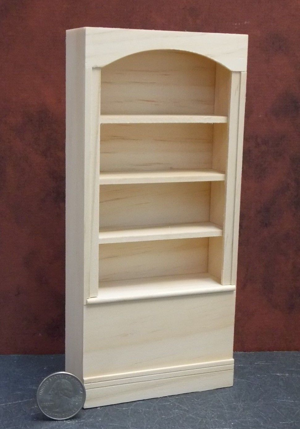 unfinished dollhouse furniture. Dollhouse Miniature Unfinished Bookcase Houseworks A 1:12 One Inch Scale D74 Furniture E