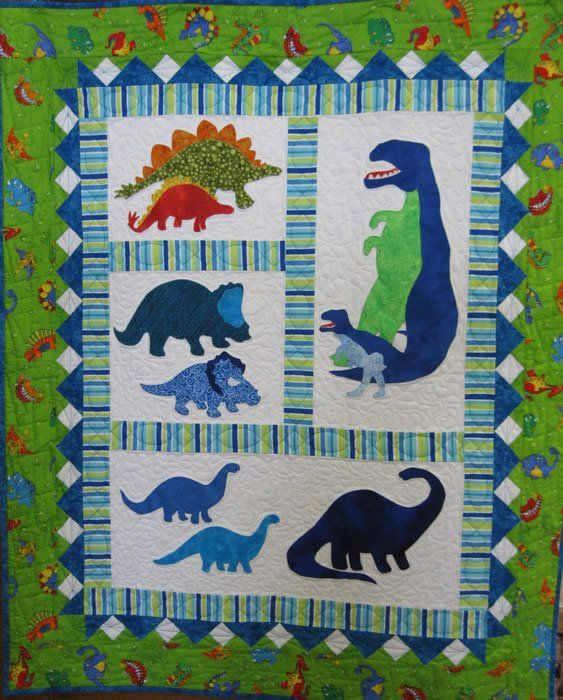 Dinosaurs Quilt Kit On Sale Quilts Baby Quilts Quilt
