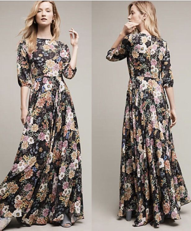 c7f8bf07c7 Details about NEW Anthropologie Garden Grown Maxi Dress by Yumi Kim ...
