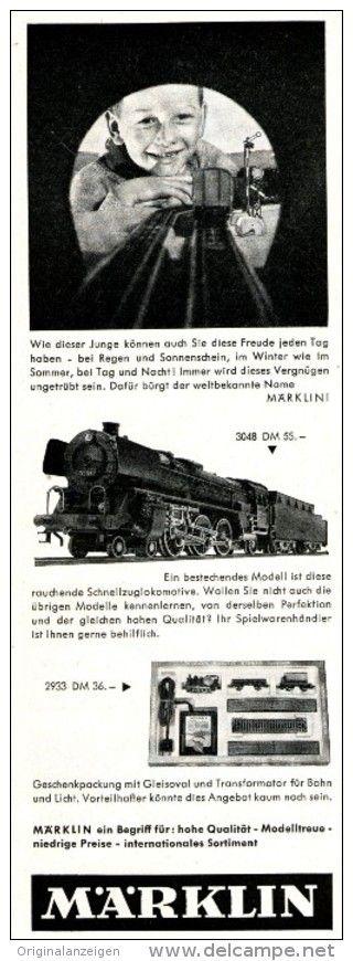 Werbung OriginalWerbung/ Anzeige 1962 MÄRKLIN