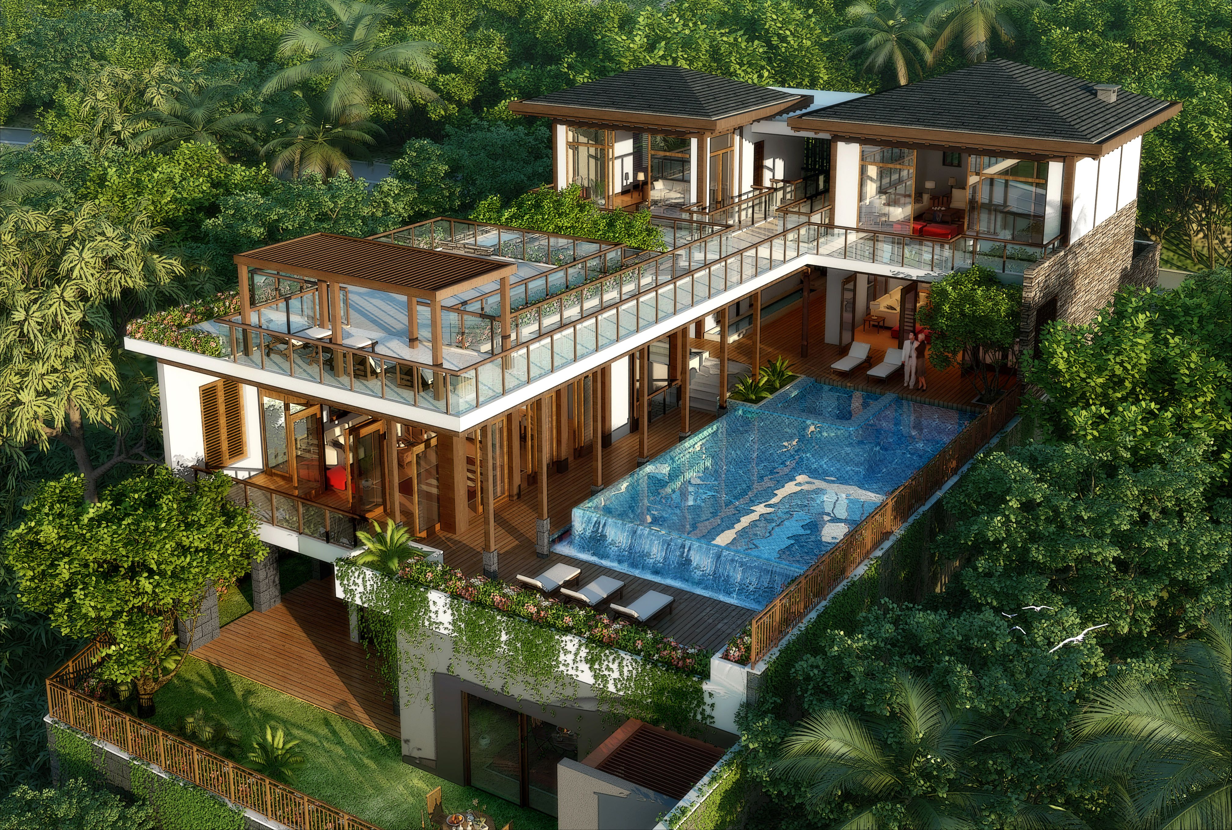 Wonderful Picture Of Tropical Home Design Ideas Interior Design Ideas Home Decorating Inspiration Moercar Tropical House Design Modern Tropical House Mansions