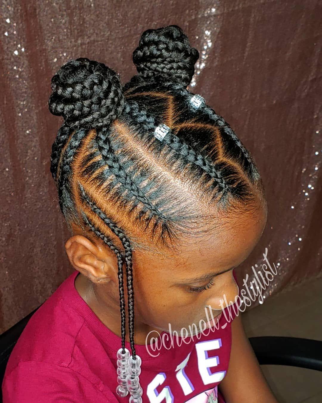 Kids Braided Hairstyles By Tola Aremu On Kid Hairstyles Girls