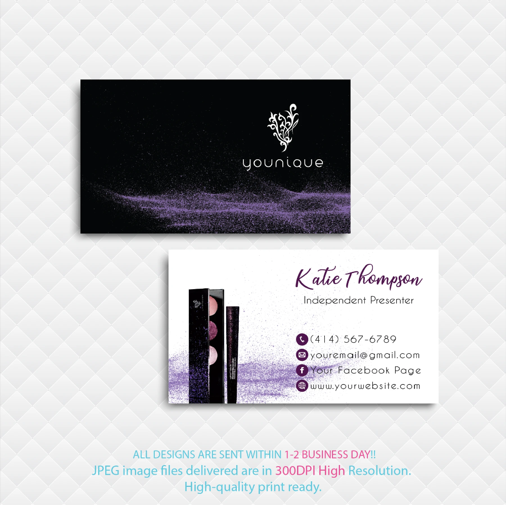 Younique Business Card Personalized Younique Business Card Yq07 In 2020 Younique Business Cards Younique Business Custom Business Cards