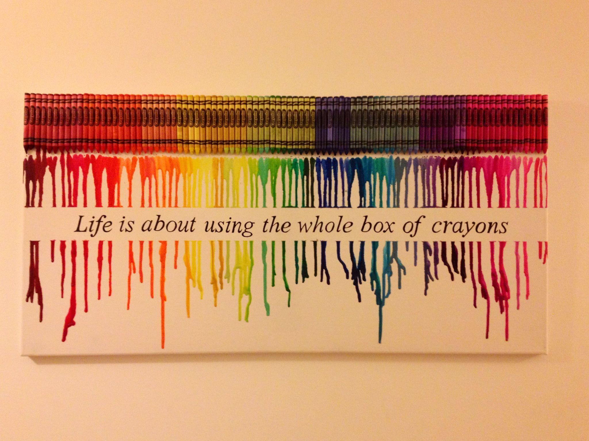 25+ unique Crayon art ideas on Pinterest | Crayon canvas, Melted ...