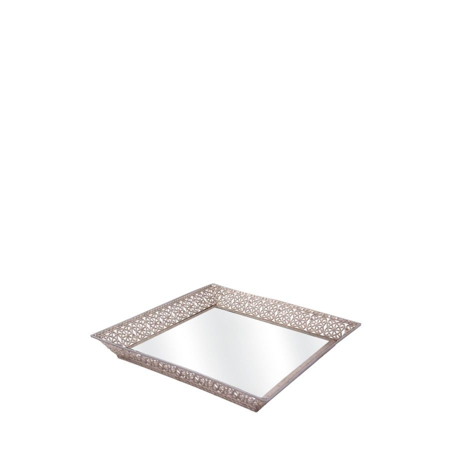 Decorative Mirror Tray Adorable Use This Decorative Mirror Tray As A Base For Decorations Such As Design Decoration