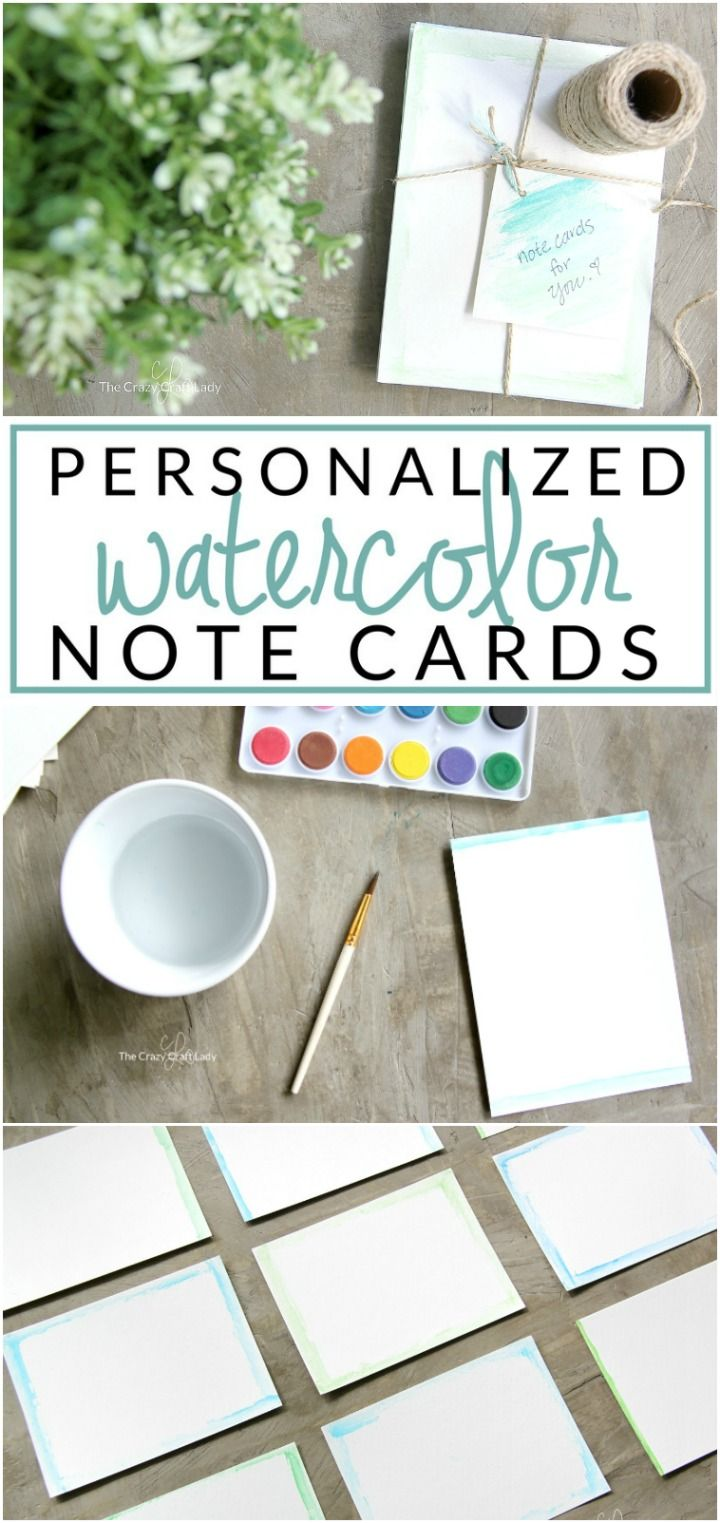 Make Personalized Note Cards And A Simple Watercolor Tutorial