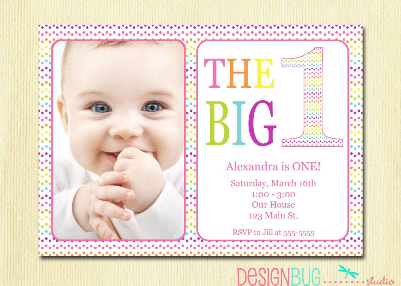 first birthday invitation baby girl