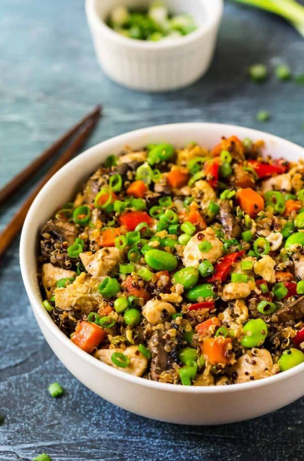 Easy Quinoa Fried Rice A Fast Easy Healthy Quinoa Recipe Quinoa Fried Rice Fast Quinoa