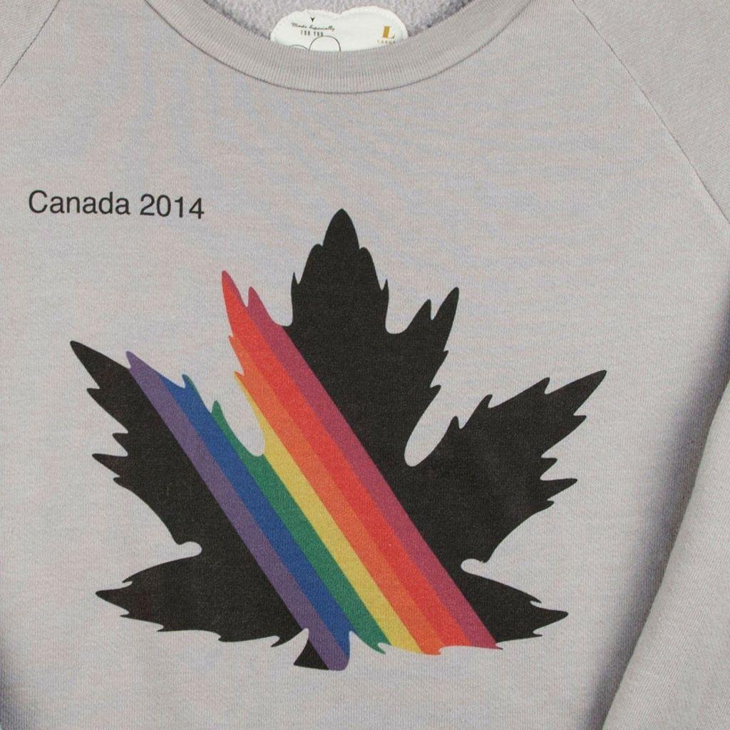 2014 Winter Athletics Rainbow Leaf Sweatshirt