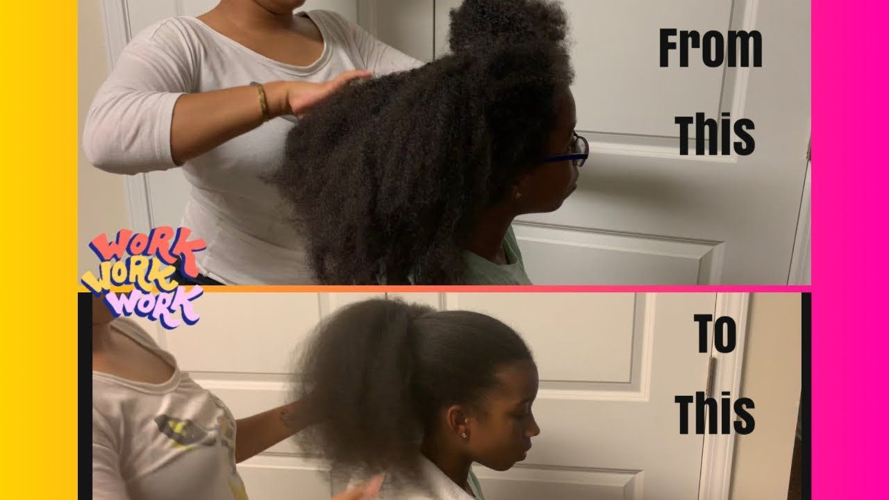 How To Blow Out Waist Length Natural Hair Kids Edition Dyson Supersonic Dryer Natur In 2020 Natural Hairstyles For Kids Blow Dry Natural Hair Natural Hair Styles