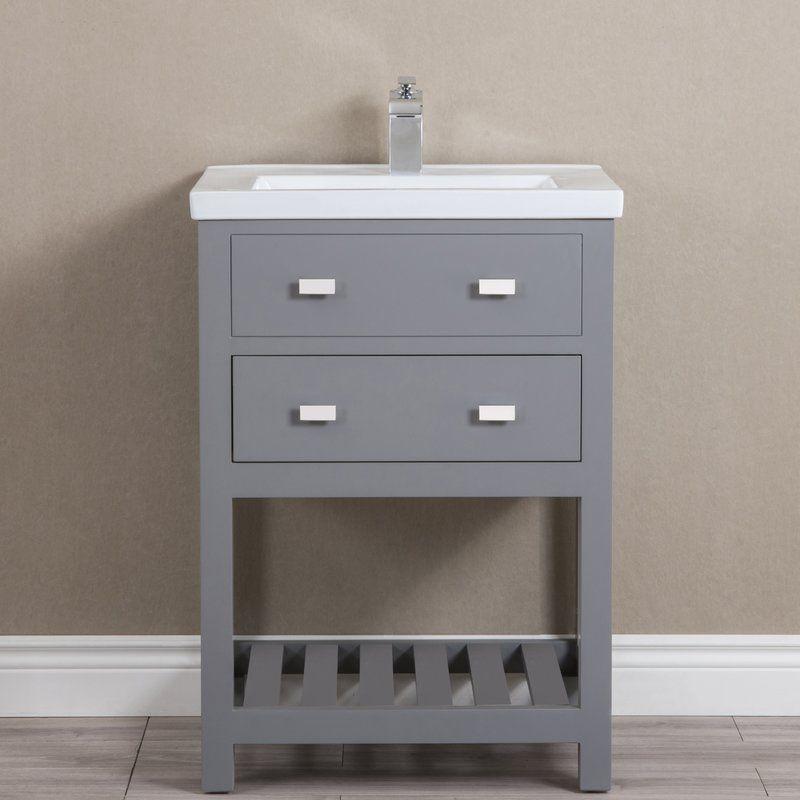 Knighten Modern 24 Quot Single Bathroom Vanity Set In 2020