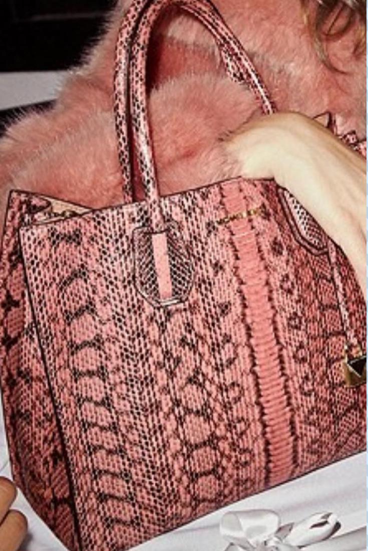 5d5567e9376d MICHAEL Michael Kors Mercer Large Snakeskin Tote in Soft Pink  michael kors  bag  handbag