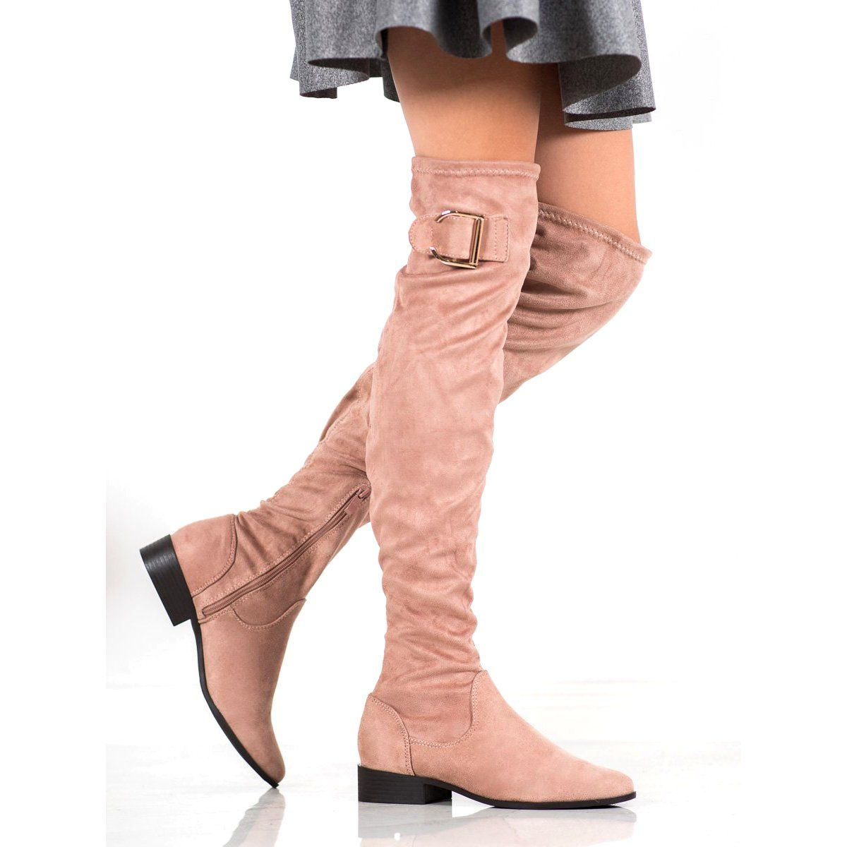 Boots Women S Jumex Jumex Elegant Boots With A Buckle Pink Elegant Boots Boots Buckled Heels