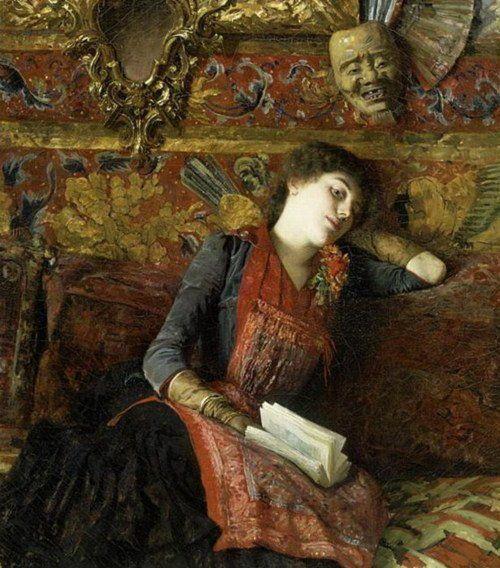 Le masque japonais, 1884 - Gustave-Claude-Etienne Courtois (1852-1923)