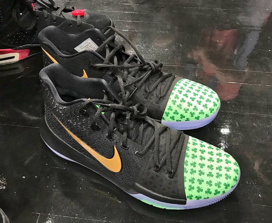 Could Kyrie Irving Opt To Wear This Nike Kyrie 3 Shamrock PE For Tonight's  Season Opener? ? KicksOnFire