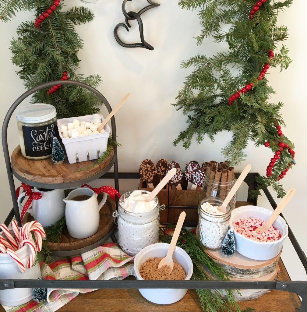e6a290c6d6 Kids Holiday Party Hot Cocoa Bar and Winter Accent Decor - Project Nursery
