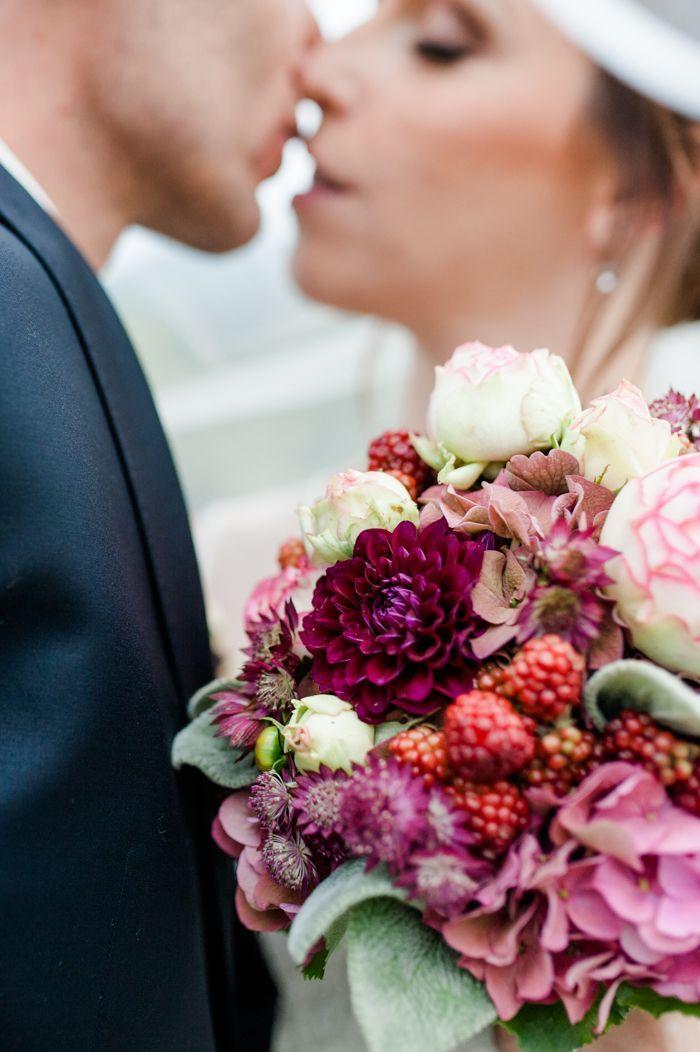 Hochzeit in Beerenfarben – Maria und Herbert #purpleweddingflowers