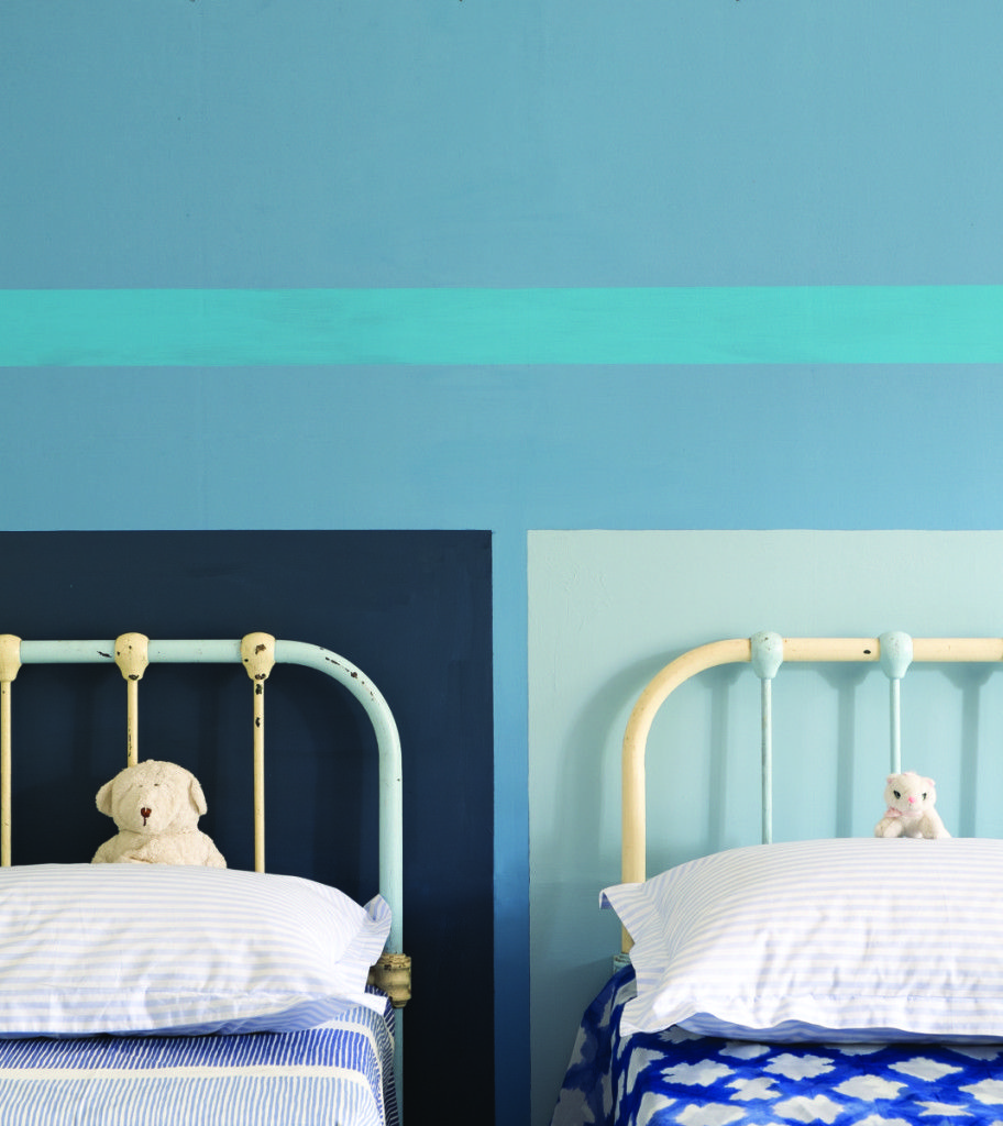 Boys Bedroom Color Schemes Earth Tone Bedroom Colors Bedroom Interiors For 10x12 Room Kids Bedroom Design Ideas: I Like The Idea Of A Stripe Or Two Diff Colours For Headboards In A Share