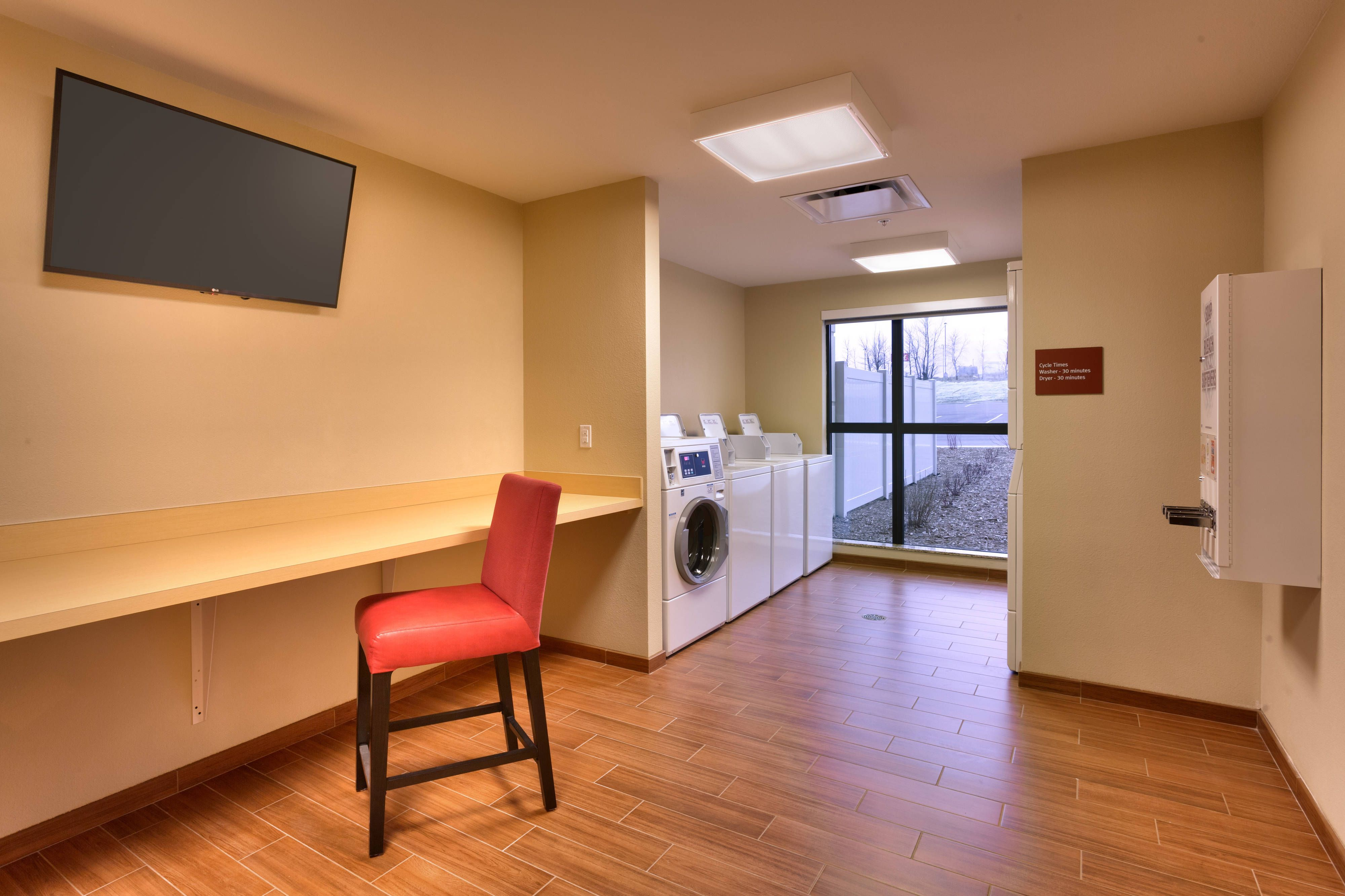 TownePlace Suites Dickinson Guest Laundry Room
