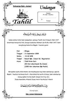 Download bingkai undangan tahlil.