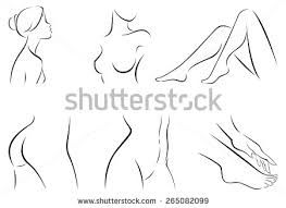 Image result for black and white stylized woman in profile