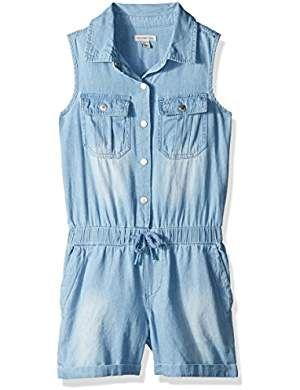 Speechless Girls Sleeveless Belted Jumpsuit